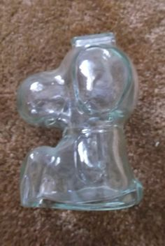 Vintage Snoopy Glass Bank Dog from saltymaggie on Ruby Lane