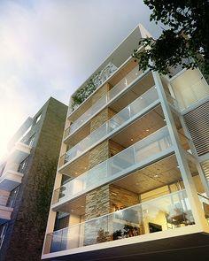 3D apartment building redering