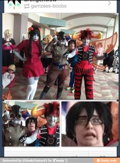 And then there's Dave, too. <--- I had no idea what Homestuck was until the Homestuck fandom took over the Internet. Homestuck Cosplay, Homestuck Karkat, L Death Note, Home Stuck, All Meme, Striders, Best Cosplay, Hetalia, Told You So