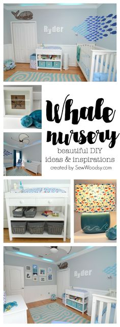 Whale nursery - beautiful diy ideas and inspirations baby time. Whale Themed Nursery, Nautical Theme Nursery, Coastal Nursery, Luxury Nursery, Nursery Themes, Girl Nursery, Nursery Ideas, Nautical Baby, Baby Bedroom