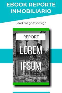 Diseño de portada, cover para reporte inmobiliario, lead magnet, ebook. Lead Magnet, Lorem Ipsum, Design, Cover Design, Cover Pages