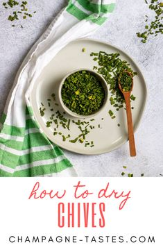 Fresh Chives, Fresh Herbs, Cooking 101, Cooking Recipes, Recipe Amounts, Champagne Taste, Aromatic Herbs, Dehydrator Recipes, House