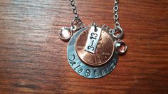 Handstamped Personalized Penny wedding by ByalittlebitofFaith, $32.00