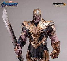 Marvel Thanos (Deluxe) Legacy Replica Statue by Iron Studios Thanos Marvel, Marvel Dc Comics, Marvel Heroes, Comic Villains, Marvel Characters, Fantasy Characters, Iron Man Avengers, Thanos Infinity Gauntlet, Marvel Universe