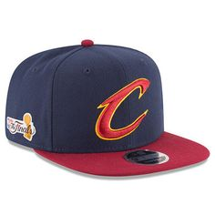 2261439c0f1a1 Cleveland Cavaliers New Era 2017 NBA Finals Bound Side Patch 2-Tone  Original Fit 9FIFTY Adjustable Snapback Hat - Navy Wine