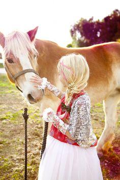 Babiekins Magazine   Fashionkins // My Little Pony, Giddy Up & Grow Studded Felt Bow Hair Clip
