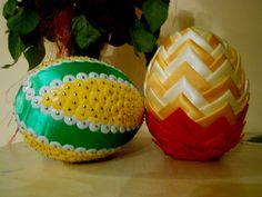 Velkonočné vajíčko - Falošný patchwork - VIDEO Ako sa to robí. Diy Ostern, Easter Crafts, Pumpkin Carving, Quilling, Watermelon, Origami, Projects To Try, Fruit, Ornaments