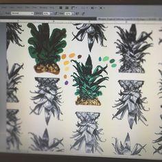 Coloring! #art #artist #artwork #artoftheday #sketch #sketchbook #sketchoftheday #illustration #illustrator #illustrationoftheday #morganndaniels #ny #nyc #newyork #brooklyn #bushwick #draw #drawing #paint #painting #pineapple #pineapples #pineapplepattern #pattern #repeatingpattern #digitalart #photoshop #savannah #pineappletops #digitalpainting