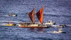 Hokule'a returning from voyage around the world.
