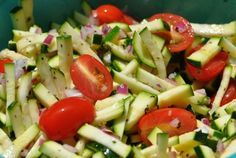 Zucchini Salad | New Paradigm Health Cookery | Information and Recipes about New Health Enhancing, Whole Food, Plant-Based Diet