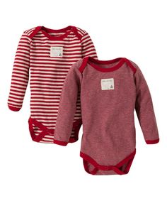 Love this Burt's Bees Baby Cranberry Stripe Organic Bodysuit Set - Infant by Burt's Bees Baby on #zulily! #zulilyfinds