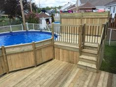 Getting The Most Out Of A Deck With Patio Designs – Pool Landscape Ideas Pool Deck Plans, Patio Plans, Swimming Pool Decks, My Pool, Best Above Ground Pool, In Ground Pools, Backyard Playground, Backyard Patio, Decks Around Pools