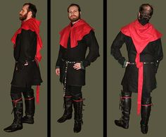 14th-15th century Mens Linen Reversible Cotehardie from Revival Clothing