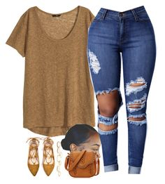 """""""Hmm feeling it"""" by beautiful-sinnerr ❤ liked on Polyvore featuring H&M and Charlotte Russe"""