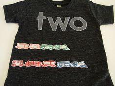 Train Shirt Birthday Tee Organic Blend Black Shirt Train Birthday Vintage train choo choo. $36.00, via Etsy.