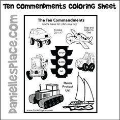 Ten Commanement Craft | Children\'s Church ideas | Pinterest | Ten ...