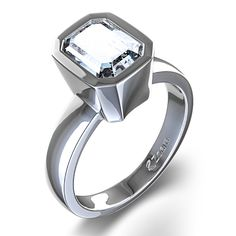 engagement esmerald ring - Google Search