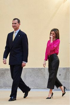King Felipe and Queen Letizia of Spain attended the annual meeting with members of the Boards of Trustees of the Princess of Asturias Foundation
