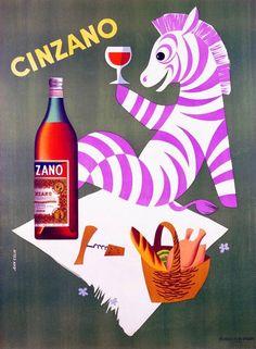 Art Deco Zebra Cigarette Case 1920's Poster Art Party Alcohol Wine Advertising…