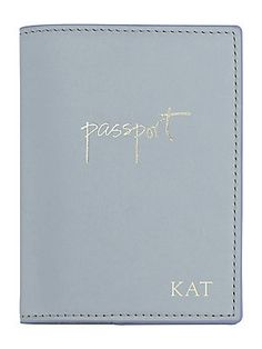 GiGi New York Personalized With Love From Kat Leather Passport Cover