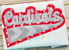 Cardinals Double Vintage Stitch Applique - 6 Sizes!   Sport Teams   Machine Embroidery Designs   SWAKembroidery.com Creative Appliques