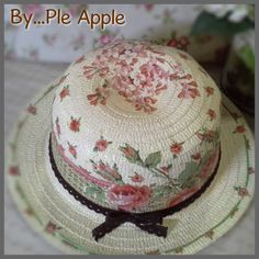 sweety flower hat summer hat, lady hat, straw hat Made to order and for sell
