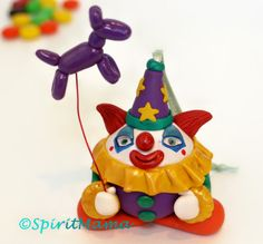 Creepy Cute Clown Ornament OOAK Halloween Christmas by SpiritMama