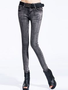 2014 Skinny Street Denim Slit Pants : KissChic.com Cheap Pants, Online Sales, Cheap Fashion, Fashion Pants, Pants For Women, Skinny, Denim, Street, Lean Body