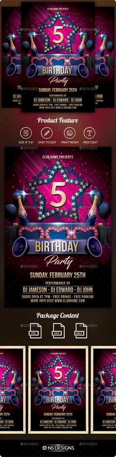 #Birthday #Flyer - Clubs & Parties #Events