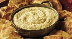 Ember-Roasted Onion and Garlic Dip with Crispy Pita