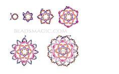 Free pattern for beautiful beaded pendant Fair | Beads Magic