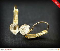 Celebrate Sale RAW HERKIMER DIAMONDS Small by ChristinaRoseJewelry