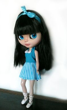Blythe Doll Navy Dress by LeFayCustom on Etsy