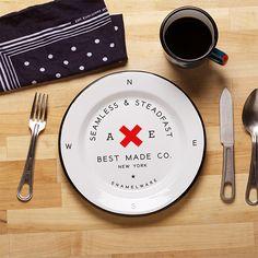 Seamless & Steadfast Enamel Steel Plates (Set of Two & Six) - Enamel Steel Plates (Set of from Best Made Company