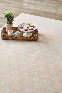 Rose Africa: 1.5 X 2.3 metres. Printed nylon. Please note that, as these printed rugs are mad...
