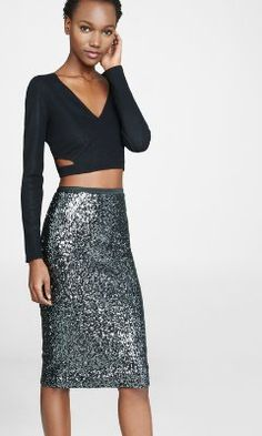 high waisted sequined pencil skirt from EXPRESS