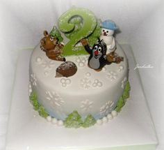 Krteček v zimě | dorty od mámy Food Porn, Food And Drink, Birthday, Party, Cakes, Tv, Design, Birthdays, Cake Makers