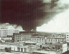 Texas City Disaster April 1947 as seen from across the Bay in Galveston