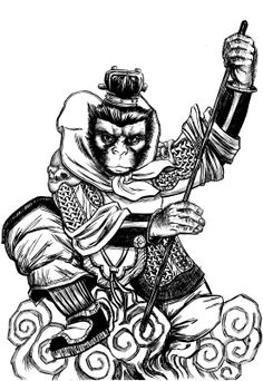 Tattoo idea, for a leg piece that'd be nice I would want to add his traditional staff and have him smiling.