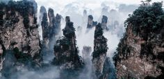 Tianzi Mountains in China, the inspiration for Avatar's flying mountains