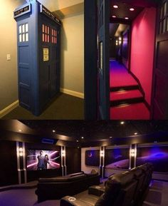 Hidden cinema room