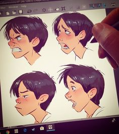 Some quick #face #expression #dook this afternoon in #mangastudio #clipstudiopaint with my #wacom #mobilestudiopro #mobilestudiopro16 .. keep on keepin on!