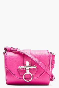 GIVENCHY Pink Leather Obsedia Shoulder Bag
