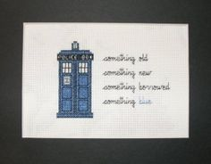 Cross stitched Tardis - when embroidery goes intergalactic
