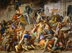 King Etzel kills the Burgundians - Julius Schnorr von Carolsfeld - The Athenaeum