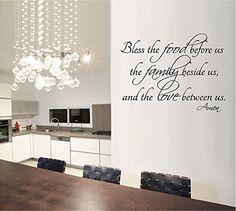 BLESS THE FOOD FAMILY LOVE KITCHEN VINYL WALL DECAL LETTERS DECOR BY G & B VINYL DECALS, http://www.amazon.com/dp/B00MRNHRO0/ref=cm_sw_r_pi_awdm_RRkPwb08QZFD9