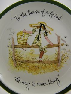 vintage Holly Hobbie decorative plate, climbing the fence, $12.00 by pennycandyemporium2