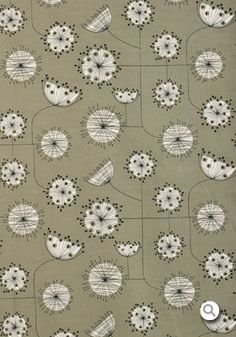 Dandelion Mobile: Fabric - French Grey with White