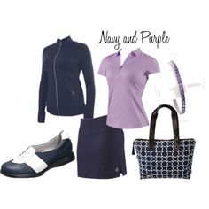 Navy & Purple #golf outfit - love this combo!