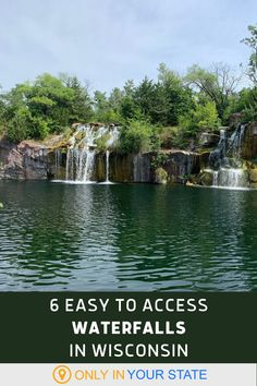 Enjoy a short, easy hike or just drive up to these 6 beautiful Wisconsin waterfalls. They're all family-friendly destinations, great for photographers! Places To Travel, Travel Destinations, Places To Visit, Summer Travel, Summer Fun, Wisconsin Waterfalls, Beautiful Places In America, Cascade Falls, Door County